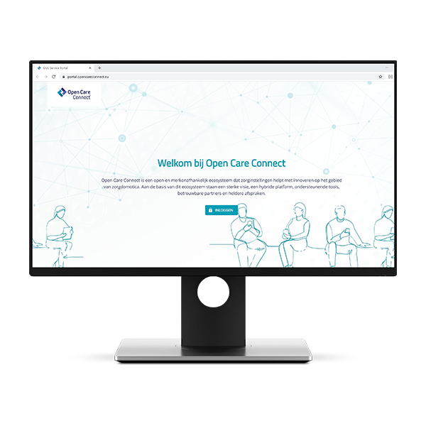 Open Care Connect portal inloggen
